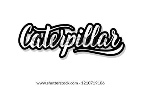 caterpillar calligraphy template text your design stock vector