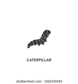 caterpillar icon vector. caterpillar sign on white background. caterpillar icon for web and app