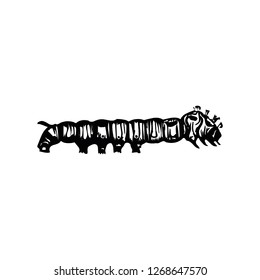 Caterpillar icon vector symbol isolated. Vector illustration. Vector icon illustration isolated on white background.