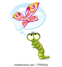 caterpillar to butterfly images stock photos vectors shutterstock rh shutterstock com Black and While Butterfly into Caterpillar Life Cycle Monarch Caterpillar Clip Art