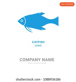 catfish company logo design template, Business corporative emblem vector icon, catfish iconic concept