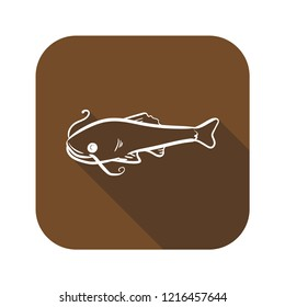 catfish icon with long shadow