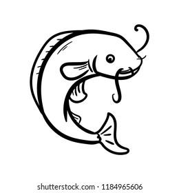 catfish icon outline
