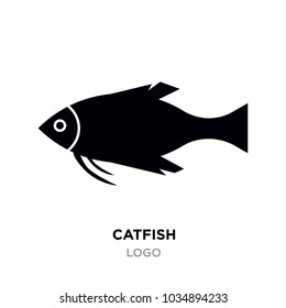 catfish logo, black catfish,Raccoons head logo for sport club or team. Animal mascot logotype. Template. Vector illustration.