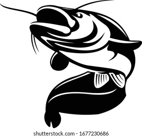 Catfish Logo. A unique Catfish Vector template. Great For Catfish Fishing Activity.