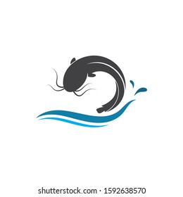 catfish vector icon illustration design template