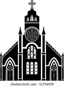 Cathedral black silhouette
