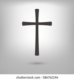 catholic cross icon illustration vector, can be used for web and design.