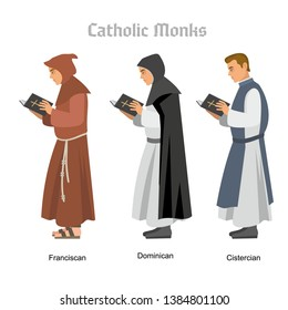 catholic monk with a book
