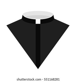 Catholic priest dress icon vector illustration. vector icon for web. Priest costume icon isolated on a white background.