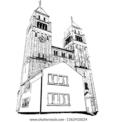 Catholic Temple in Dusseldorf (vector)