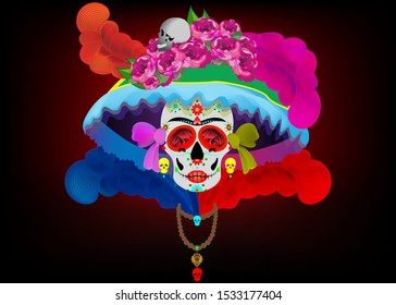 Catrina La Calavera. Catrina is a character of the mexican popular culture that represent the death and is part of the collective imaginary that refers to the celebration of the Day of the Dead
