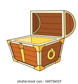 catroon treasure chest open