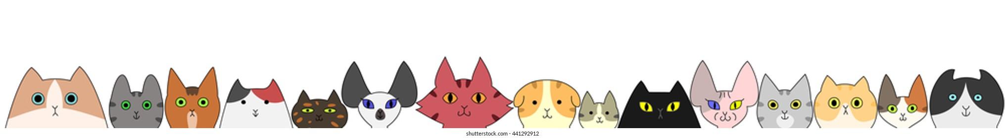 Cat Banner Images, Stock Photos & Vectors | Shutterstock