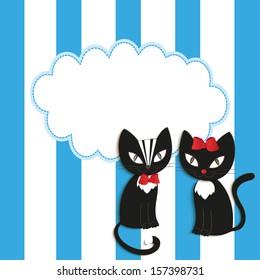 Cats - illustration, vector.