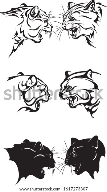 Free Vector Fighting Cat Bw Clip Art - Cat Clip Art - Png Download  (#5424801) - PinClipart