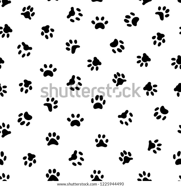 20fcd443356c Cats paw print. Cat or dog paws footsteps prints, pets footprints and animal  printed