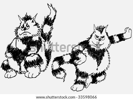Cats Serial 2 Vector Stock Vector Royalty Free 33598066