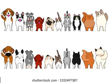 cats and small dogs border set