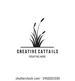 cattail premium logo vector illustration design