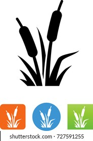 Cattail Wetland Plants Icon