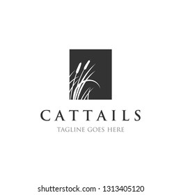 cattails / reed logo designs inspirations