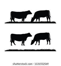 Cattle and Grass Logo and Illustration