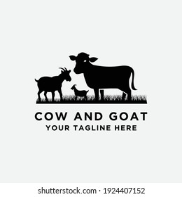 cattle logo vector collection. Cow and Goat design. - Vector