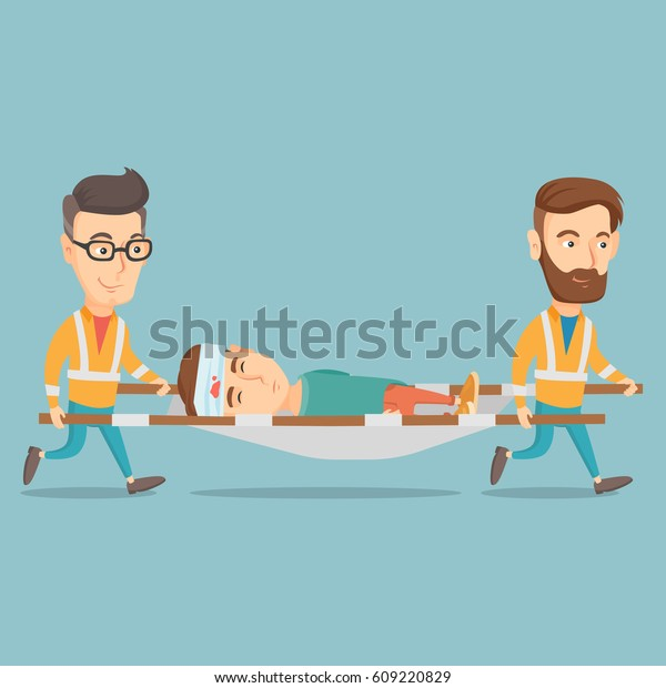 Victim on Stretcher editorial image. Image of working