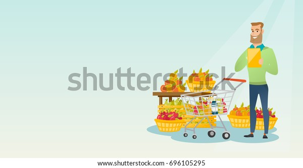 Woman And Man Shopping With Carts And Products Vector Design Royalty Free  Cliparts, Vectors, And Stock Illustration. Image 145345734.