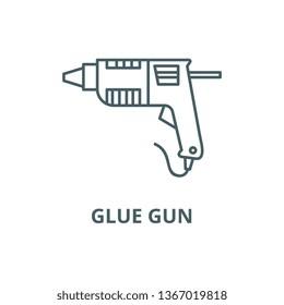 Caulk gun,glue gun line icon, vector. Caulk gun,glue gun outline sign, concept symbol, flat illustration