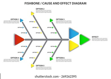 Cause and Effect / Fishbone Diagram - Vector Infographic