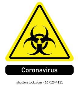 Caution biohazard. Coronavirus. sign vector illustration