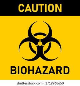 Caution Biological Hazard or Biohazard Sign. Vector Image.