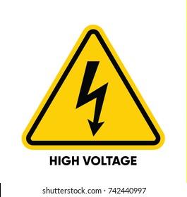 Caution danger sign. Hazard warning signs