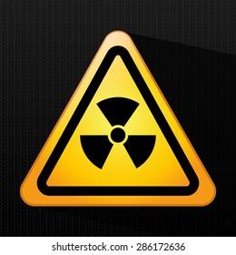 Caution design over black background, vector illustration.
