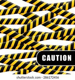 Caution design over white background, vector illustration.