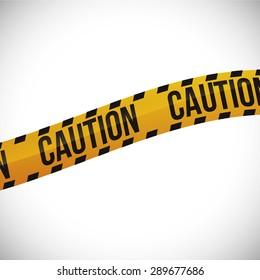 caution design over white background, vector illustration