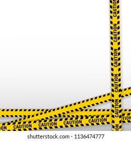 Caution Caution Caution design service on white plaid, vector illustration.