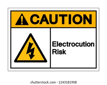 Caution Electrocution Risk Symbol Sign ,Vector Illustration, Isolate On White Background Label .EPS10
