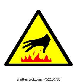 Caution hot surface