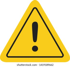 Caution icon / sign in flat style isolated. Warning symbol for your web site, logo, app, UI design. Vector illustration.