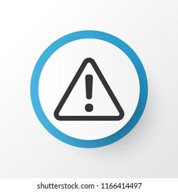 Caution icon symbol. Premium quality isolated alert element in trendy style.