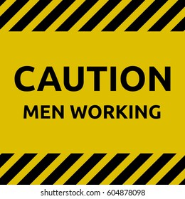 Caution man working