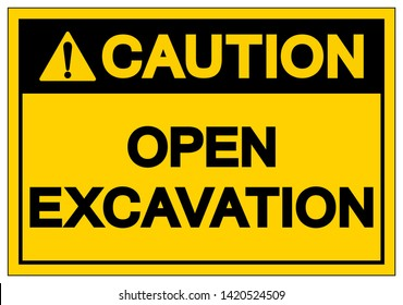 Deep Excavation Sign Images Stock Photos Vectors Shutterstock