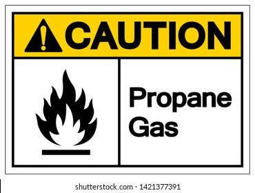 Caution Propane Gas Symbol Sign, Vector Illustration, Isolate On White Background Label. EPS10