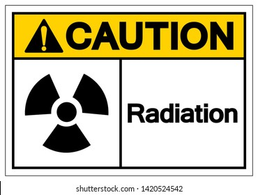 Caution Radiation Symbol Sign, Vector Illustration, Isolate On White Background Label. EPS10