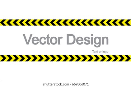 CAUTION sign. arrow yellow and black color with texture.  The hazard warning for text and symbols filled.