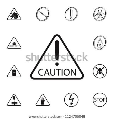 Caution Sign Icon Detailed Set Warning Stock Vector Royalty Free