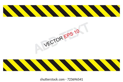 CAUTION sign. line yellow and black color .  The hazard warning for text and symbols filled.